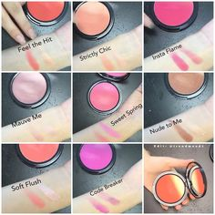 """First #SWATCHES - NYX Ombré Blush ➡️ Available NOW Online @nyxcosmetics $10 Each"