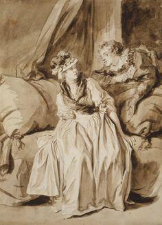 Fragonard - La Lettre ou la conversation espagnole - The Letter, or The Spanish Conversation   The Art Institute of Chicago