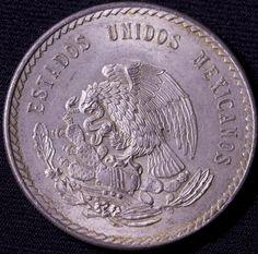 1947 AU Mexico Cinco Pesos Silver Coins Cuauhtemoc Gramos Ley Mexican | eBay