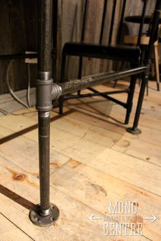 Piping as possible table stand.