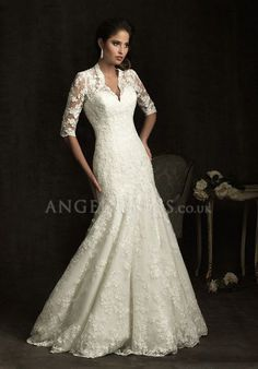 Wedding Dresses for Older Brides   ... to Find the Stylish Lace Wedding Dress with Sleeves   Angel Dress UK