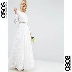 Crop Top Wedding Dress // robe de mariée Crop Top en dentelle ASOS 2017