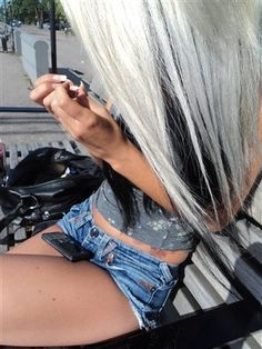 . The colors in her hair.