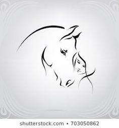 Portfolio of nutriaaa on Shutterstock - silhouette of the girl and the horse . - Portfolio of nutriaaa on Shutterstock – silhouette of the girl and the horse – - Horse Drawings, Animal Drawings, Tattoo Drawings, Sketch Tattoo, Girl Drawings, Silhouette Girl, Silhouette Images, Horse Tattoo Design, Tattoo Horse