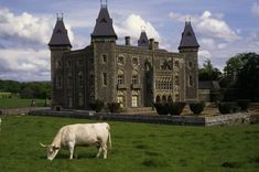 Newton House, the Victorian-Gothic mansion in Dinefwr Park, Wales.