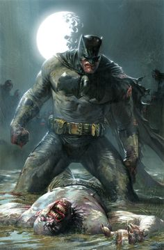 "Amazing Batman Art!  gabrieledellotto: "" DK3 variant cover "" The Dark Knight III - The Master Race #1 variant cover by Gabriele Dell'Otto *"