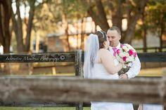 Sneaking some kisses. #wedding #farm #country #rustic #Florida #GrandOaksResort