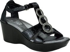 Naot Peace - Black Gloss Leather with FREE Shipping & Returns. These sandals from Naot are designed with a comfortable leather lining,