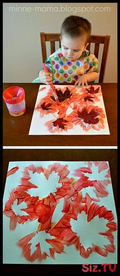 48 Awesome Fall Crafts for Kids Fall Crafts for Kids. - Fall Crafts For Kids Kids Crafts, Fall Crafts For Toddlers, Easy Fall Crafts, Leaf Crafts, Thanksgiving Crafts, Preschool Activities, Arts And Crafts, Preschool Classroom, Preschool Fall Crafts