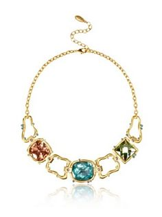 T Tahari Cool Colors Statement Necklace