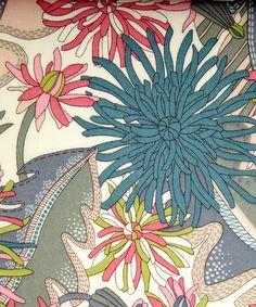 Becci D Tana Lawn, Liberty Art Fabrics via Holly Becker Motifs Textiles, Textile Patterns, Textile Prints, Textile Design, Fabric Design, Print Patterns, Liberty Art Fabrics, Liberty Print, Surface Pattern Design