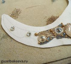 Bead Embroidery master class.  Wonderful detail but translate.  #Seed #Bead #Tutorials