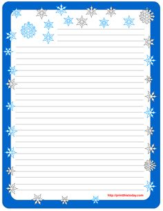 Lined Stationery Pads | Free Printable winter Stationery