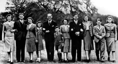 The Kennedys Back   The Family in 1939 Joseph Kennedy Sr. (fifth from left) and his wife Rose (fifth from right) pose for a family portrait on the grounds of the U.S. embassy in London, where Joe was serving as U.S. ambassador to the U.K. The kids include, from left: Eunice, John, Rosemary, Jean, Edward, Joseph Jr., Patricia, Robert and Kathleen