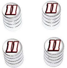 "Amazon.com : (4 Count) Cool and Custom ""Diamond Etching Nascar Number 11 Top with Easy Grip Texture"" Tire Wheel Rim Air Valve Stem Dust Cap Seal Made of Genuine Anodized Aluminum Metal {Classic Toyota Silver and White Colors - Hard Metal Internal Threads for Easy Application - Rust Proof - Fits For Most Cars, Trucks, SUV, RV, ATV, UTV, Motorcycle, Bicycles} : Sports & Outdoors"
