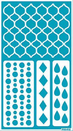 Plantilla reutilizable pegamento marroquí patrón plantilla