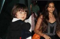 Spotted: AbRam and Suhana Khan at the airport