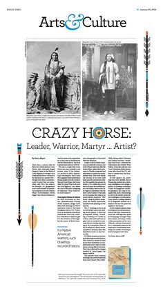 Crazy Horse: Leader, Warrior, Martyr … Artist? |Epoch Times #newspaper #editorialdesign