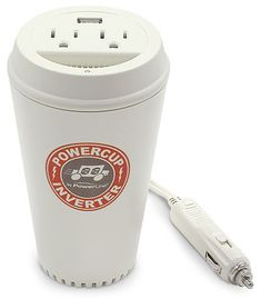 Coffee cup power plug for the car... #gadgets