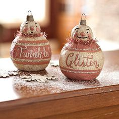 Vintage Snowman Ornament - Modeled after turn-of-the-19th-century decorations, these papier-mache ornaments spread good cheer whether they're hung from your tree or positioned around the house.