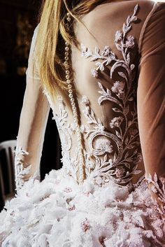 """velvetrunway: """"Details backstage at Georges Hobeika Fall 2016 Haute Couture posted by fatalscroll """""""