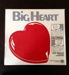 Vintage 1980s Big Heart Jewelry Cosmetic Holder on Etsy, $18.00
