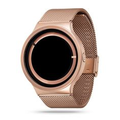 Anyone who has experienced nature's most amazing and unusual phenomenon never forgets it. Now, you get to experience the Eclipse on your wrist, every day. This special rose gold edition (w/o SuperLumiNova) combines the unique Eclipse design with gorgeous rose gold which is flattering for all skin tones and perfect for many occasions. Built with quality in mind, the Eclipse Metallic is constructed using 316L stainless steel casing and strap.