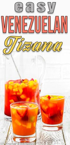 This Venezuelan Tizana is amazingly refreshing and delicious! Bursting with the sweetness of ripe fruits this drink will keep everyone happy and in good sips. Chop, pour, mix, and READY… guaranteed success!!! #recipe #eggless #eggfree #fruitpunch #drink #summer #venezuela #tizana #nonalcoholic #easy #forkids #forparty #forsummer #fruity via @mommyhomecookin Kitchen Recipes, Wine Recipes, Food Network Recipes, My Recipes, Eggless Recipes, Best Vegan Recipes, Favorite Recipes, Amazing Recipes, Healthy Recipes
