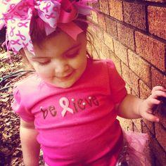 "DIY Toddler ""Believe"" shirt I made for the #komen Susan G. Komen Race for the Cure 2013 #believe #breastcancerawareness"