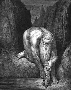 """Nemrod (Nimrod, Ninrode) é personagem de várias lendas mesopotâmicas onde é associado ao herói Gilgamesh. É sempre retratado como um grande caçador. Também aparece no Gênese (10: 8, 9) como filho de Ham e neto de Noé, considerado """"grande caçador aos olhos de Jeová"""". Dante o retrata como o responsável pela construção da Torre de Babel, por isso a fala de Nemrod não faz sentido algum."""