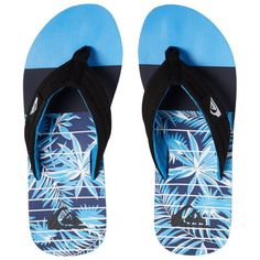 Black Blue Quiksilver Boy/'s Molokai Layback Sandal Red New