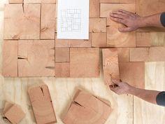 End-Grain-Tile wood flooring