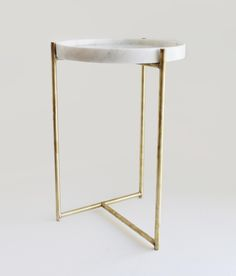 Oliver Marble Tray Side Table Brass by Evie Group Brass Side Table, Brass Coffee Table, Coffee Table Design, Side Tables, Marble Furniture, Metal Furniture, Find Furniture, Marble Tray, Marble Tables