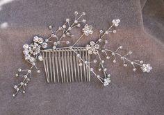 Rhinestone Bridal Hair Comb / Wedding Hair Comb / by lyndahats, $18.00. etsy.com