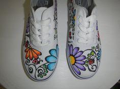 lady bug doodling | Items similar to Ladybugs and flowers Handcrafted Doodle Graffiti ...
