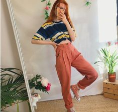 a898a462e49 Peachy pink high waisted vintage jeans trousers 🍑 The of - Depop