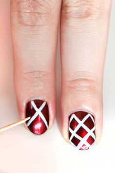 The holiday nails tutorial that's Faberge-egg perfect for parties. (Step 2; click for other steps)