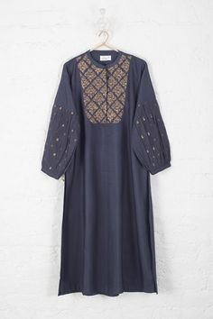 Good Earth - Shazia Chandani Ensemble (set of Frock Fashion, Hijab Fashion, Fashion Dresses, Pakistani Dresses, Indian Dresses, Indian Outfits, Indian Attire, Indian Wear, Kurta Designs Women