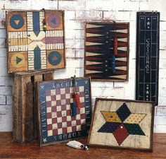 decorating with old game boards