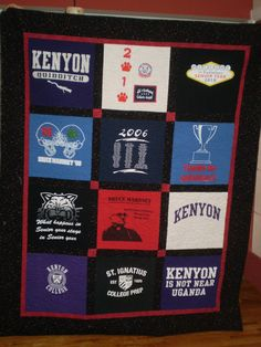 Custom Tee Shirt Quilt Made Using Your Tee Shirts by MarysQuilts, $204.00  For more on my Machine Quilting, go to Machine Quilting by Mary Kate