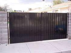 114. Standard Double Gate with Pressed Steel Caps and Solid Metal Backing in Las Vegas, Nv by Mobile Welding.