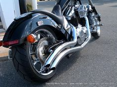 Bills Honda Fury right Cobra exhaust