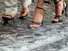 """Saw this on MSNBC's website with the headline...""""Only in Rome...Stilettos in the Snow."""" :o)"""