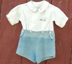 1920s Vintage Handmade Toddler Short Shirt Set Outfit Romper Display Photo Wear  #HandmadebyProfessionalSeamstressforherchild #PlayPhotoOpDisplayPattern