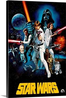 Star Wars (1977) Solid-Faced Canvas Print
