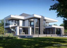 Viking Creek casas de luxo - The Lodge at Whitefish Lake Modern Exterior House Designs, Modern House Facades, Modern Villa Design, Dream House Exterior, Modern Architecture House, Modern Bungalow House, Modern Mansion, Contemporary House Plans, Modern House Plans