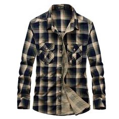 AFS JEEP Men's Plaid Full Sleeve Shirt