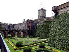 Barcelona, Spain - Castell de Montjuiic  Park for sightseeing  best entrance is Teatre Grec