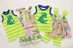 c4cf2dabfb6 See You Later Collection by Ricrac and Ruffles Children s Boutique - Girls  Alligator Crocodile Romper