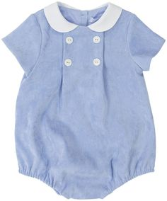 Mayoral Newborn Boys Velour Romper Blue